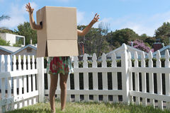 Cardboard box monster Stock Images