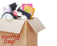 Free Cardboard Box. Moving Day Concept Stock Photography - 36809912