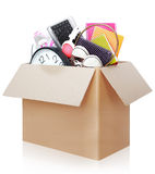 Cardboard box. moving day concept Stock Photos