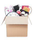 Cardboard box. moving day concept Stock Photo