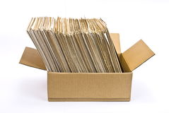 Cardboard Box Of Document Royalty Free Stock Image