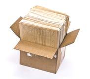 Cardboard Box Of Document Royalty Free Stock Photos