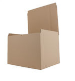 Cardboard box open Royalty Free Stock Photo