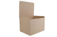 Cardboard box open Royalty Free Stock Photography