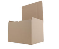 Cardboard box open Stock Photos