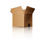 Cardboard box opened. Royalty Free Stock Photo