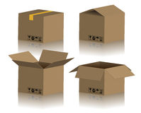 Cardboard Box Package Royalty Free Stock Photos
