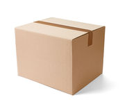 Cardboard box package moving transportation delivery Royalty Free Stock Image