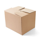 Cardboard box package moving transportation delivery Royalty Free Stock Photo