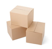 Cardboard box package moving transportation delivery Royalty Free Stock Photography