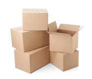 Cardboard box package moving transportation delivery Stock Photography