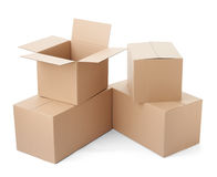 Cardboard box package moving transportation delivery stack Royalty Free Stock Image