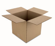 Cardboard Box with Path Royalty Free Stock Photos