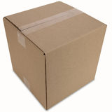Cardboard Box with Path Royalty Free Stock Images