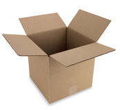 Cardboard Box with Path Stock Photography