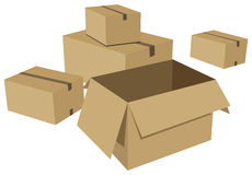 Cardboard box Stock Image