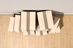 Cardboard Box Pile House Stock Photo