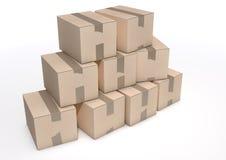 Cardboard Box Pile Royalty Free Stock Image