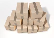 Cardboard Box Pile Royalty Free Stock Photography
