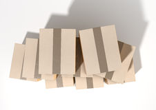 Cardboard Box Pile Stock Images