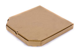 Cardboard box for pizza. Pizza Box Isolated on white background Stock Images