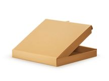 Cardboard box for pizza Royalty Free Stock Image