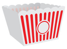 Cardboard box for popcorn Royalty Free Stock Images