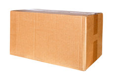 Brown Pizza Box, Top View, Copy Space Stock Photo - Image: 50630294
