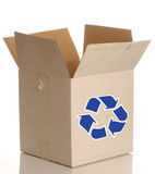 Cardboard box with recycle Royalty Free Stock Photos