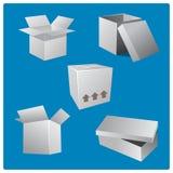 Cardboard Box Set Stock Images