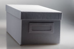 Cardboard box in the shade Stock Image