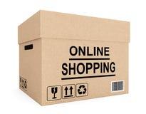 Cardboard box for shipping Stock Photo