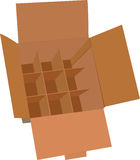 Cardboard box for shipping Royalty Free Stock Photography
