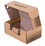Cardboard box. Shoe Box Isolated on white background Stock Images