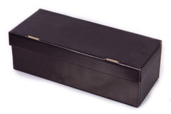 Cardboard box for shoes Royalty Free Stock Photos