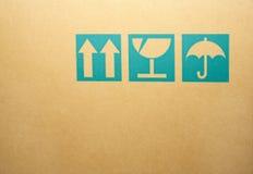 Cardboard box symbols Royalty Free Stock Photo