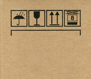 Cardboard box symbols Royalty Free Stock Image