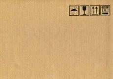 Cardboard box symbols stock images
