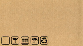 Cardboard box symbols Royalty Free Stock Images