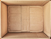 Cardboard box for things. Royalty Free Stock Images