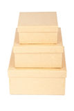 Cardboard box tower Royalty Free Stock Photo