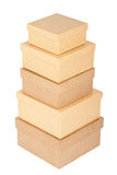 Cardboard box tower Royalty Free Stock Image