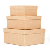 Cardboard box tower Stock Photography