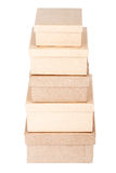 Cardboard box tower Royalty Free Stock Images