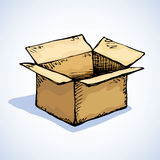 Cardboard box. Vector drawing Stock Images