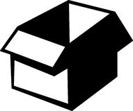 Cardboard box vector illustration. Vector illustration of a cardboard box Royalty Free Stock Photography