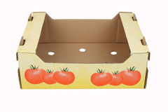 Cardboard box for vegetables Royalty Free Stock Photography
