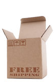 Cardboard Box. On a white background stock image