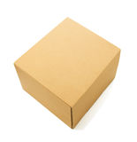 Cardboard box on white Stock Photo
