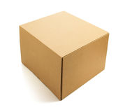 Cardboard box on white Royalty Free Stock Images